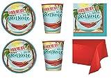 Party Store web by casa dolce casa Festa Pensione Coordinato Finalmente in Pensione ADDOBBI Festa PENSIONAMENTO- Kit n°9 CDC-(32 Piatti, 32 Bicchieri, 40 TOVAGLIOLI,1 TOVAGLIA Monocolore)