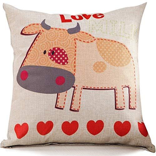 KJDFH Kissenbezug,Cotton Blend Cushion Square Decorative Throw Pillow Big Eye Cat - Farbton Cotton Liner