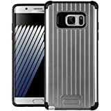 Dr Chen Samsung Galaxy Note 7 Case Metal Armor Cover Hybrid Tpu + PC Dual Layer Back Cover For Samsung Galaxy Note 7 (Grey)