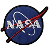 Aufnäher, bestickt, Design: NASA Logo Weltraumforscher, zum Aufbügeln oder Aufnähen