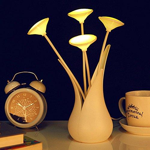 Schreibtisch-lampe 2 Röhren (Etbotu Vase Form Nacht Licht energiesparende Bettwäsche Home dekorative Lampe USB LED Schreibtisch Lampe Licht Sensor grün)