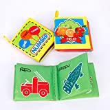 MaoXinTek Stoffbilderbuch 3 Stück Weiches Tuch Buch Waschbare Knisterbuch Tragbares Stoffbuch für Babys Herstellt aus Polyester Tuch
