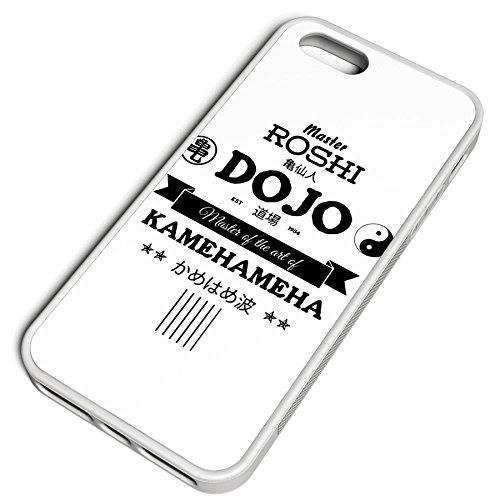 Smartcover Case Master Roshi Dojo z.B. für Iphone 5 / 5S, Iphone 6 / 6S, Samsung S6 und S6 EDGE mit griffigem Gummirand und coolem Print, Smartphone Hülle:Iphone 6 / 6S schwarz Iphone 5 / 5S weiss