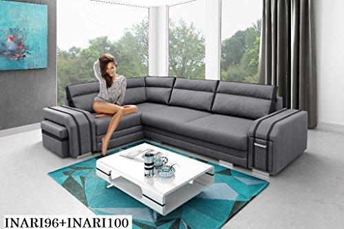 Preisvergleich Produktbild ECKSOFA Couch mit Schlaffunktion Eckcouch Polstergarnitur Wohnlandschaft -AVATAR
