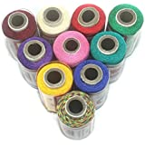 BeadsnFashion Silk Embroidery Jewellery Making Thread Pack of 10