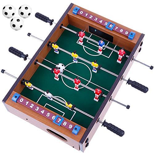 Goldge Mini Kickertisch Fußballtisch Kicker inkl. 4 Kickerbälle Maße 34.5*23cm Top Qualität für Kinder (Mini Tisch Kicker)