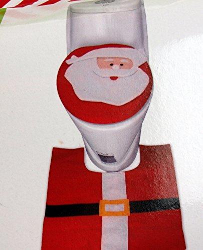 Neuheit Filz Weihnachten Santa WC-Sitz Bezug und passende Loo Matte (Wc Ornament Christmas)