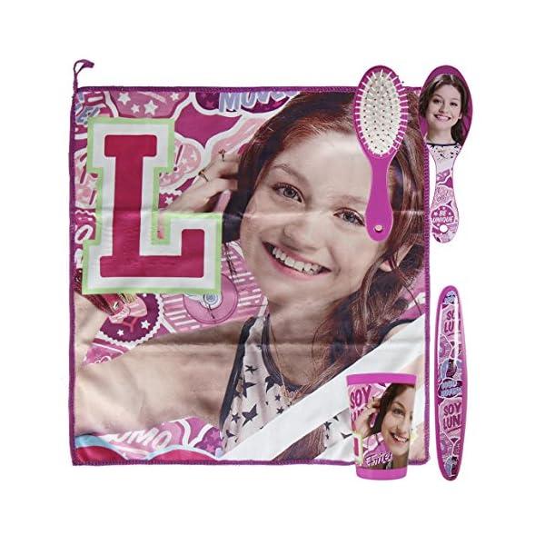 Soy Luna Set Neceser higiene Comedor Escuela, Color Lila, 23 cm (Artesanía Cerdá 2500000694)