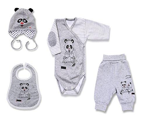 Seruna Geschenk-Set Baby BY39 Gr. 68, Erst-Ausstattung mit Panda Säugling-e Babies Mädchen u. Junge-n Weihnacht-en