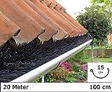 Dachrinnenbürste 20 Meter Ø 15cm, inkl. 12 Sicherungsklammern gegen Sturm und Wind
