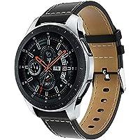 samLIKE Pulsera de Piel para Samsung Galaxy Watch 46mm–Ajustable Brazalete Deportivo Suave Piel para Pulsera, 5.5–8.3Pulgadas, 5Colores, para Hombre y Mujer, Color ⭐️ A