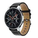 DIPOLA Reemplazo Clásico Correa de Reloj de Cuero Correa de Muñeca para Samsung Galaxy Watch 46 mm
