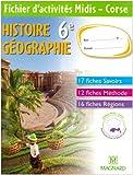 Histoire Géographie 6e - Fichier d'activités Midis - Corse