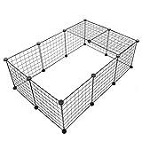 Pet Innen Yard Kombination frei Metall barrirer Zaun Netz Laufgitter Käfig Hund Pet Huhn Event Zaun 35x 35cm
