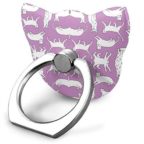 NiceGift Katzen-Ständer für alle Handys und Tablets, 360 Grad drehbar, Metallschnalle, Violett - Juwel Krone Der Auf
