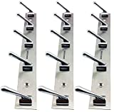 #2: Docoss Deluxe 5 Pin Chrome Plated Hook Rail Set (Silver, Pack of 3)