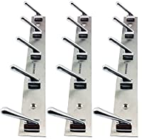 The unique combination of hook rail which includes 5 point hooks set of 3 pieces. Brass material for durability and long last chrome finish. Made up of brass bacterial which provides durability and long last chrome finish. Easy to install and fix. Sm...