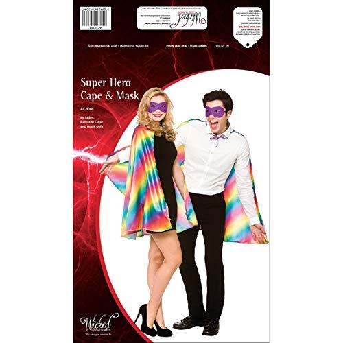 Regenbogen - unisexsuperhero Cape und Maske Kostüm ...