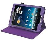 Navitech Lilane Executive Echte Premium Leder Flip Trage Tasche mit Einstellbarem Ständer und Kopfstützenhalterung für das neue Medion Lifetab S7852 und S7851 8 Zoll Internet Tablet wie bei ALDI