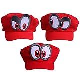 Super Mario Odyssey 3X Mütze - Kostüm-Set für Erwachsene & Kinder - perfekt für Fasching, Karneval & Cosplay