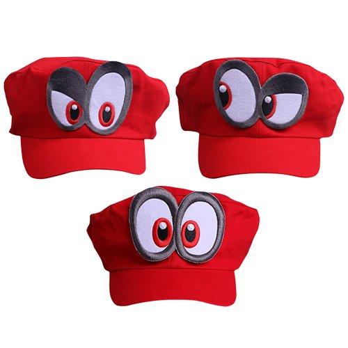 (Super Mario Odyssey 3X Mütze - Kostüm-Set für Erwachsene & Kinder - perfekt für Fasching, Karneval & Cosplay)