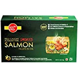 Golden Prize Wild Alaskan Smoked Pink Salmon Fillet in Oil, 115g