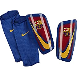 Nike Mercurial Lite-Fc Barcelona Espinilleras, Unisex adulto, Rojo (Prime Red / Game Royal / University Gold), L
