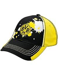 Borussia Dortmund BVB-Kappe Farbkleksmuster für Kinder (schwarz) 6d38a6153b