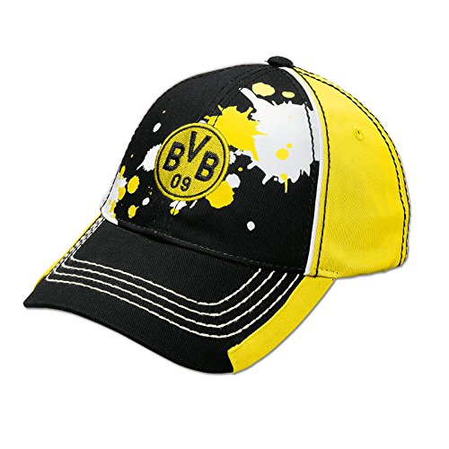 Borussia Dortmund BVB-Kappe Farbkleksmuster für Kinder one Size