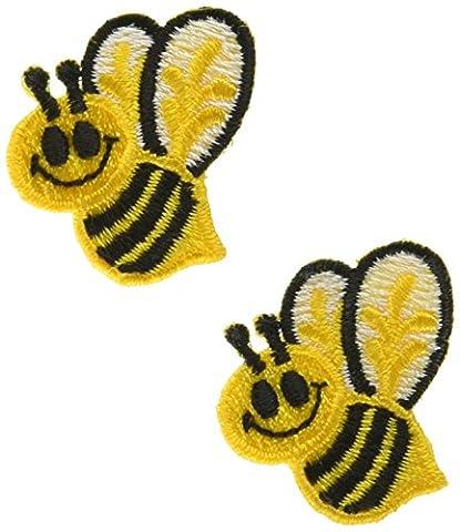 "Wrights fer Appliques-Bumble Bees 1 ""X 1-1/2"" 2/Pkg"