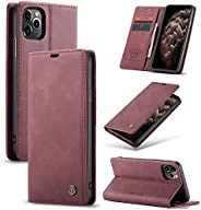 CaseMe Magnetic Flip Wallet Case with Card Slot Holder Leather Cover Case For iPhone 12 / 12Pro /12 Pro Max/iP