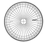 Graphoplex GX110G Rapporteur cercle entier Transparent