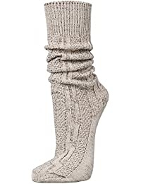 PAULGOS Trachtensocken Trachtenstrümpfe Socken Kniestrümpfe mit Zopfmuster in 3 Farben Gr. 39-47