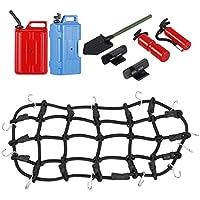MagiDeal 1/10 RC RC Rock Crawler Equipaje Net W / Tanque De Agua De Combustible Jarra De Agua para RC4WD D90