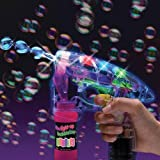 Funny Teddy Electronic Bubble Gun Hand Pressing Bubble Making Toy Gun With Lights And 2 Bubble Solution Bottles (Color And Design May Vary)