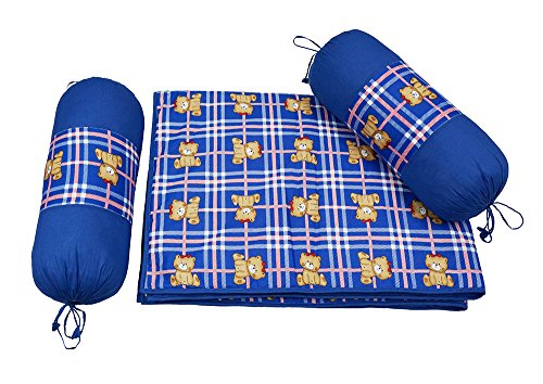 Wobbly Walk Baby Blanket and Bolsters (Blue)