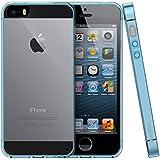 iPhone 5 5S SE Hülle - iHarbort Weich Gelee Gel TPU Silikon Schutzhülle iPhone 5 5S SE Hülle Case Cover transparent mit Displayschutzfolie,Brau
