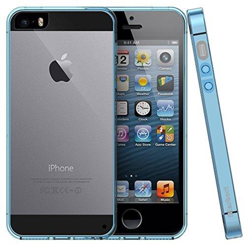 iPhone 5 5S SE Hülle - iHarbort Weich Gelee Gel TPU Silikon Schutzhülle iPhone 5 5S SE Hülle Case Cover transparent mit Displayschutzfolie,transparent Brau