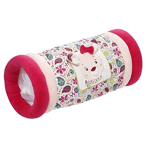 Fehn 076509 Krabbelrolle Sweetheart / Krabbelhilfe & Motorik-Spielzeug zum Greifen und Entdecken / Für Babys und Kleinkinder ab 6+ Monaten