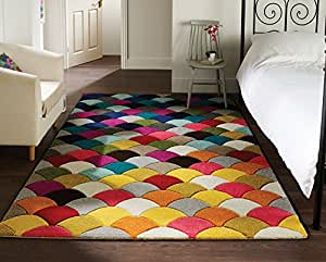 Spectrum jive tapis de cr ateur tapis moderne motif for Amazon tapis de salon