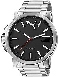 Puma Ultrasize Metal - Reloj análogico de cuarzo con correa de acero inoxidable para hombre,