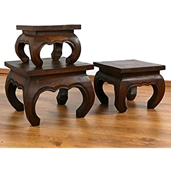 Small Opium Tables In Brown   Select Size! Side Table As Coffee Table Or  Bedside