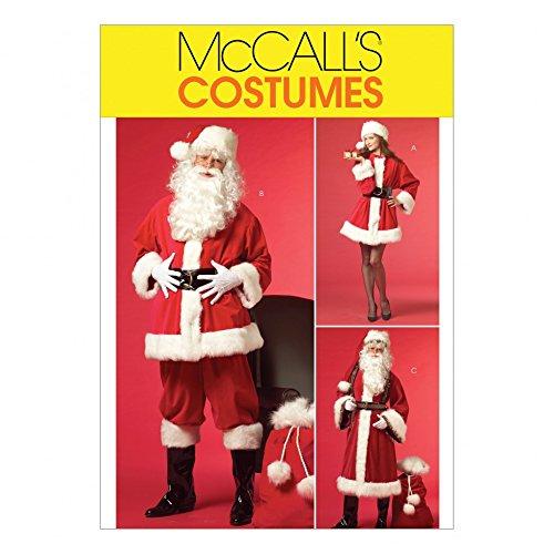 Vater Kostüm Weihnachten - McCall 's Damen & Herren & # 39; S Schnittmuster 5550Vater Weihnachten Santa Kostüme & Tasche