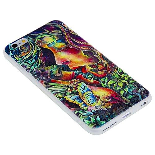 Coque Apple iPhone 6 / 6s Plus (5,5 Pouces) ,BONROY® Ultra-Mince Soft Silicone Etui de Protection pour Modèle de peinture Souple Gel TPU Bumper Anti-Scratch Housse Case Cover Pour Apple iPhone 6 / 6s  KISS