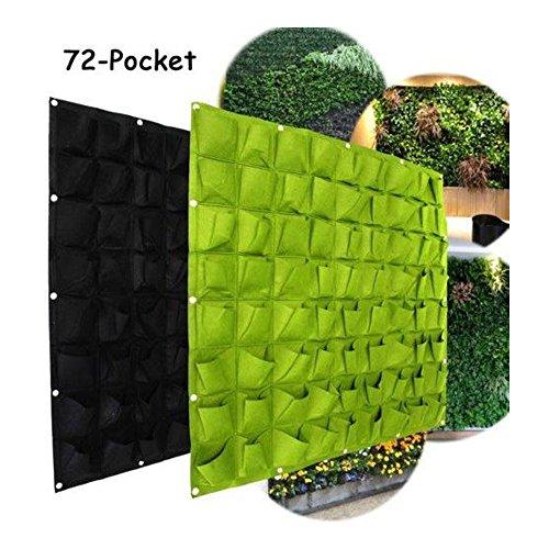 ms Super más 72bolsillo vertical Hanging Flower vege bolsas de hierbas para crecimiento de plantas Maceta de pared Decor to323