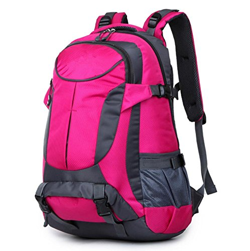 Xiuxiandianju 36-55L outdoor alpinismo borsa sport equitazione zaino in spalla , orange rose red