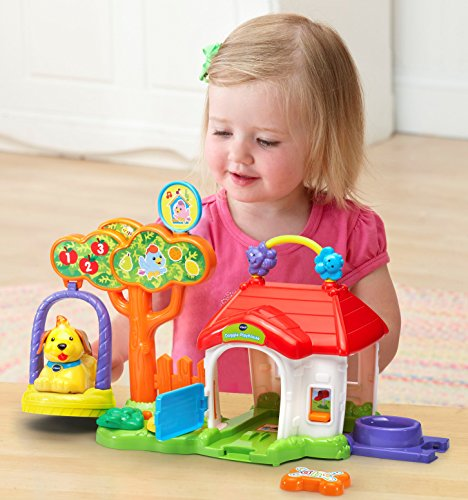 Image of Vtech Baby Toot-Toot Animals Doggie Playhouse Toy - Multi-Coloured