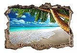 3D WANDILLUSION murando 140x100 cm Wandbild - Fototapete - Poster XXL - Loch 3D - Vlies Leinwand - Panorama Bilder - Dekoration - Strand Meer c-C-0106-t-a