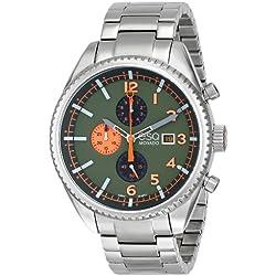 ESQ 7301447 44mm Silver Steel Bracelet & Case Mineral Men's Watch