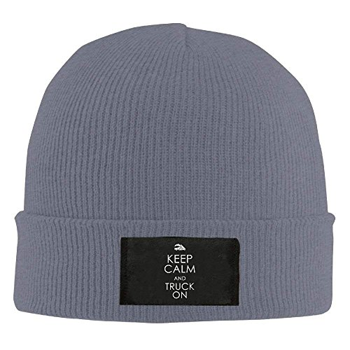 fboylovefor Keep Calm and Truck On Winter Warm Knit Hats Skull Caps Stretchy Cuff Beanie Hat Unisex